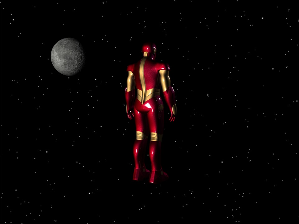 Iron Man back